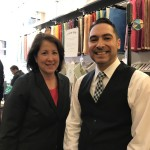 Andrea Allon, Chief Operating Officer Chamber of Commerce for Greater Philadelphia and Nestor Torres, Owner Casa Papel