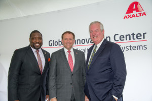 Axalta Chairman & CEO Charles W. Shaver with PIDC President John Grady and Councilman Kenyatta Johnson.
