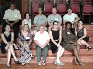 (Top L- R) At Broad Street Ministry. Lawrence M., Amy S., Marla S., Patrick O., Omar D.,Kate M., Evelyn M., Maryann M., Amanda D., Ronette S., Ivy S.